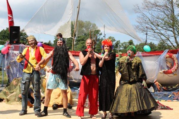 День Рыбака на Куршской Косе - пират Черная Борода