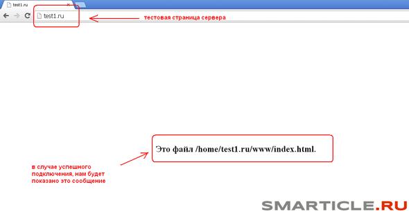 Запуск предустановленной тестовой страницы для проверки
