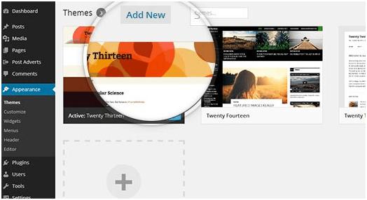 Добавление новой темы WordPress