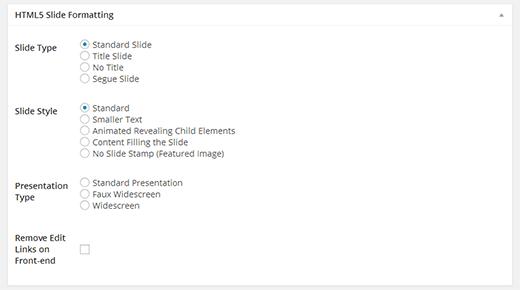 форматирование слайдов