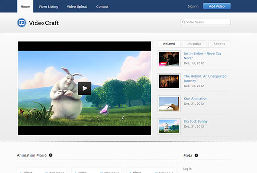 inkthemes videocraft - симпатичная тема на WordPress