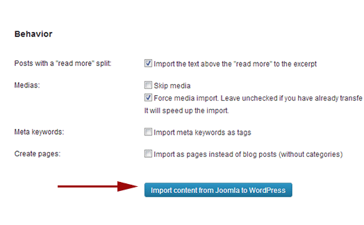 перенос сайта с joomla на wordpress при помощи плагина