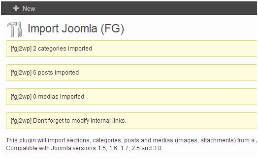 Импорт содержимого сайта с Joomla