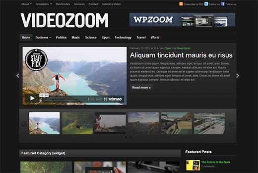 wpzoom videozoom - стильная тема для блога