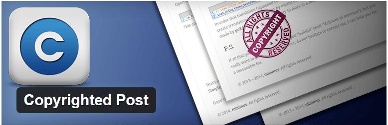 Copyrighted Post - плагин защиты контента от воровства
