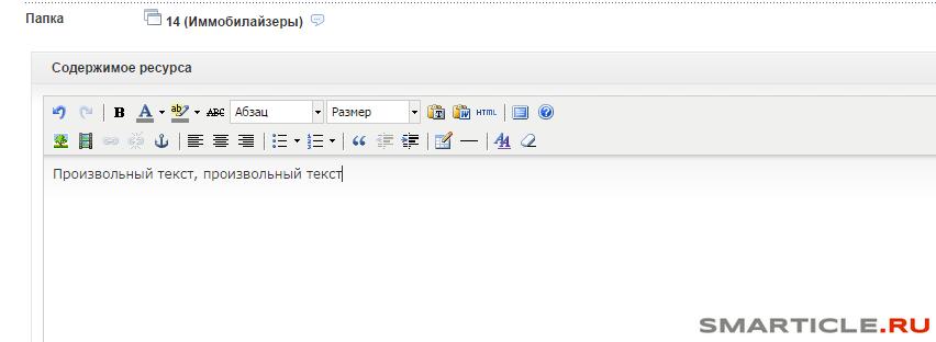 Произвольный текст для записи