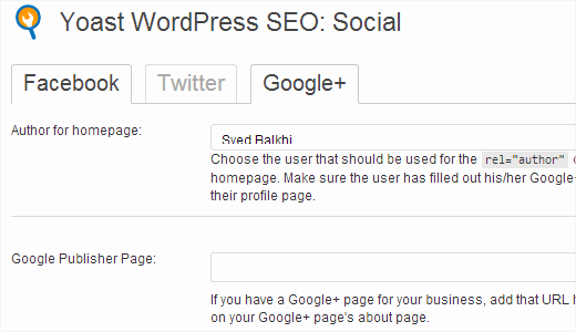 google plus wordpress seo by Yoast