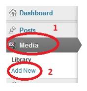 Добавление медиа файла
