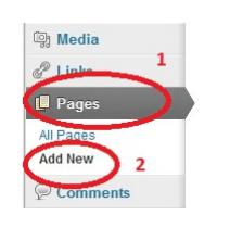 Добавление нового товара через добавление страницы
