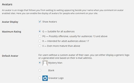 Аватары для пользователей