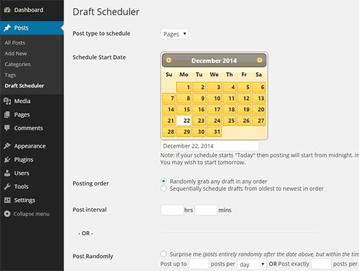 Планировщик Draft scheduler