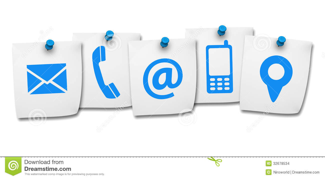 website contact us icons post internet page concept icon five paper isolated white background 32678534 - Идея для бизнеса: разработка иконок для сайта