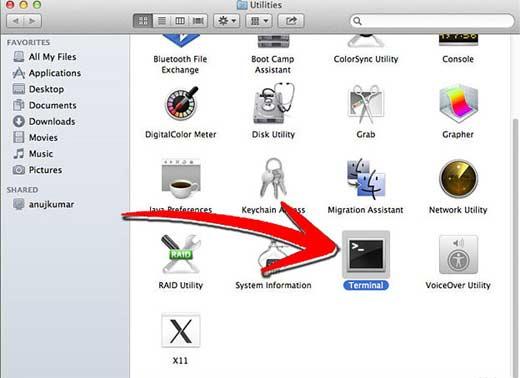 Запускаем Терминал на Mac устройстве