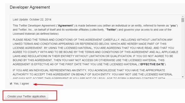 Соглашение с условиями для разработчиков