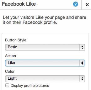 Настройка кнопки фейсбук