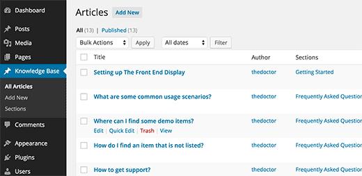 Создание wiki базы данных с помощью кода