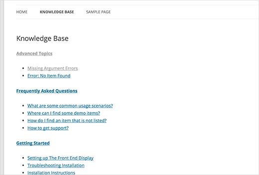 Wiki база знаний без плагинов