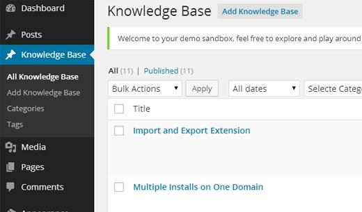 knowledgebase админка