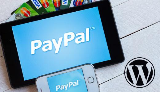 Paypal прием платежей на WordPress