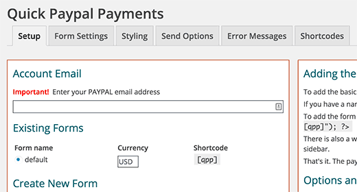 quick paypal payments