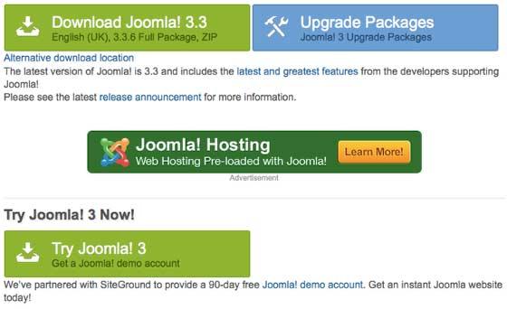 Здесь можно скачать официальную версию сайта Joomla