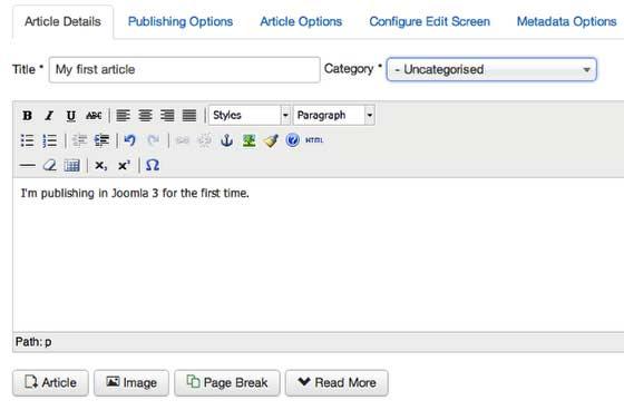 Панель текстового редактора