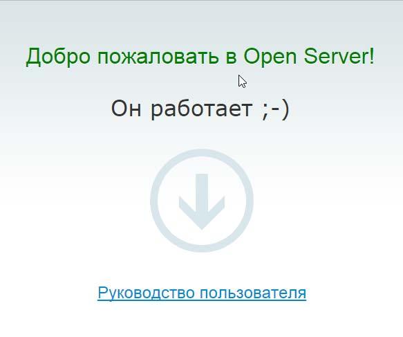 Сайт на локальном сервере работает