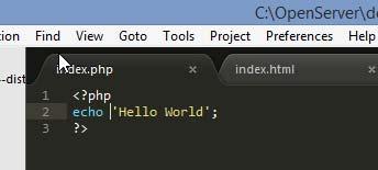 Вставка php кода на тестовую страницу
