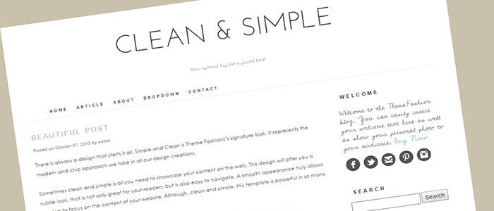 wordpress-theme-clean-and-simple