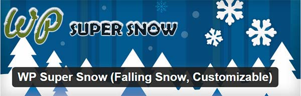Плагин снежинок на сайте - Wp Super Snow