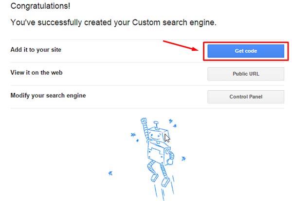 Получить код скрипта поиска гугл