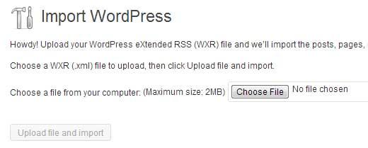 Загрузка файлов блога