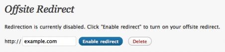 Перенаправление пользователей - платная опция на WordPress.com