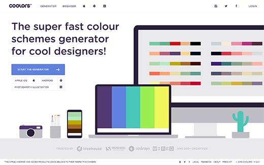coolors - Как подобрать цвета для своего сайта? Обзор 4 сервисов