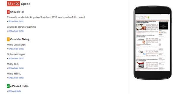 Проверка скорости сайта на мобильных устройствах