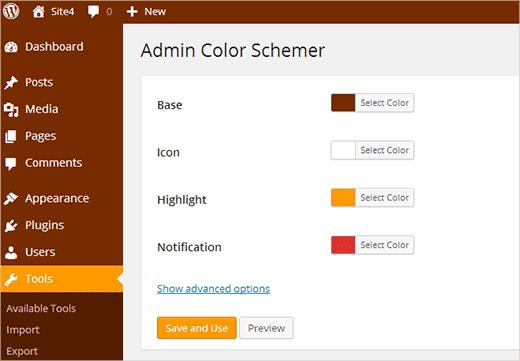 Создание своей цветовой схемы для админки с помощью плагина Admin Color Schemer