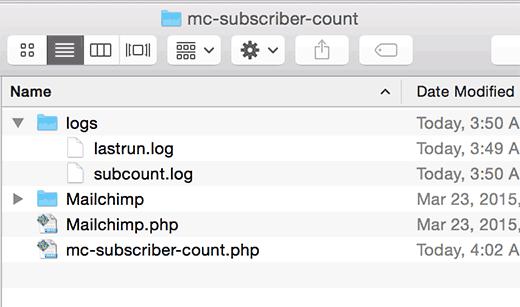Вставляем файл mailchimp.php в папку mailchimp