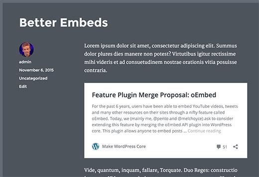 новый формат oEmbed