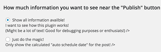 Два варианта как должны появляться записи на блоге по графику