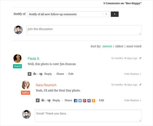 улучшаем стандартную систему комментариев на блоге WordPress