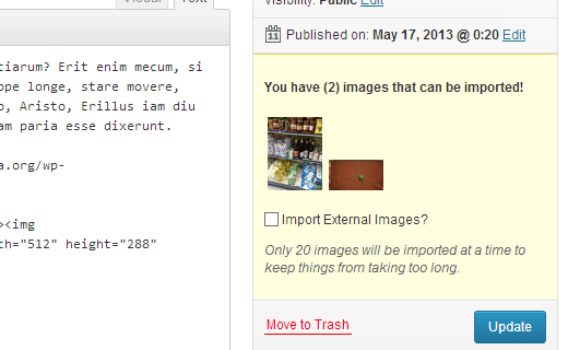 Импорт сторонних изображений