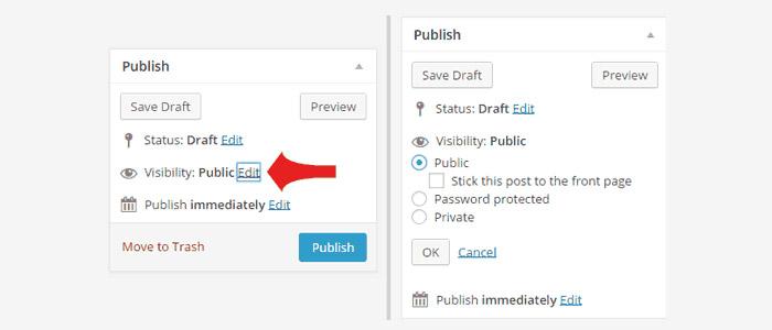 Как защитить запись паролем или сделать приватную страницу