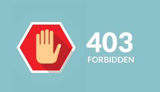 403 ошибка - доступ запрещен