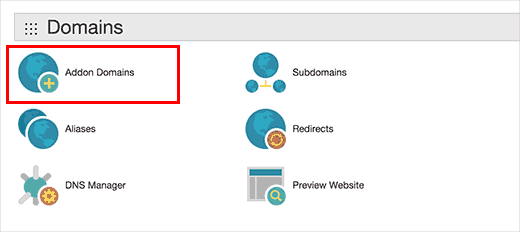 Добавление домена в панели cPanel Godaddy