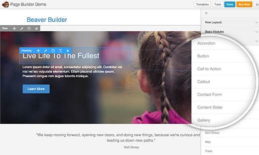 beaverbuilder - инструмент создания макетов страниц