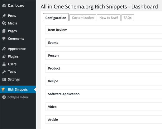 Плагин All In One Schema.org Rich Snippets для расширенных сниппетов