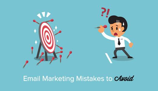 11маркетинговых email ошибок, которые следует избегать