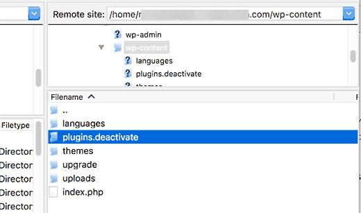 Переименуйте папку plugins, если нет доступа к админке