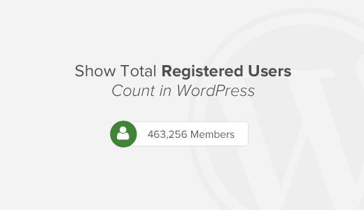 Как показать общее количество зарегистрированных пользователей сайта
