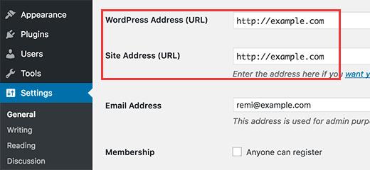 Настройка урла WordPress сайта